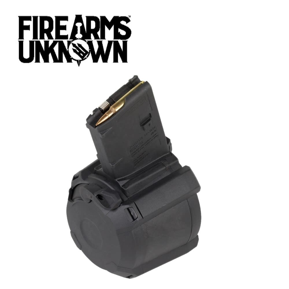 Magpul Industries, Magazine, PMAG D-60, 556NATO, 60Rd, Fits AR-15/M4, Black Finish
