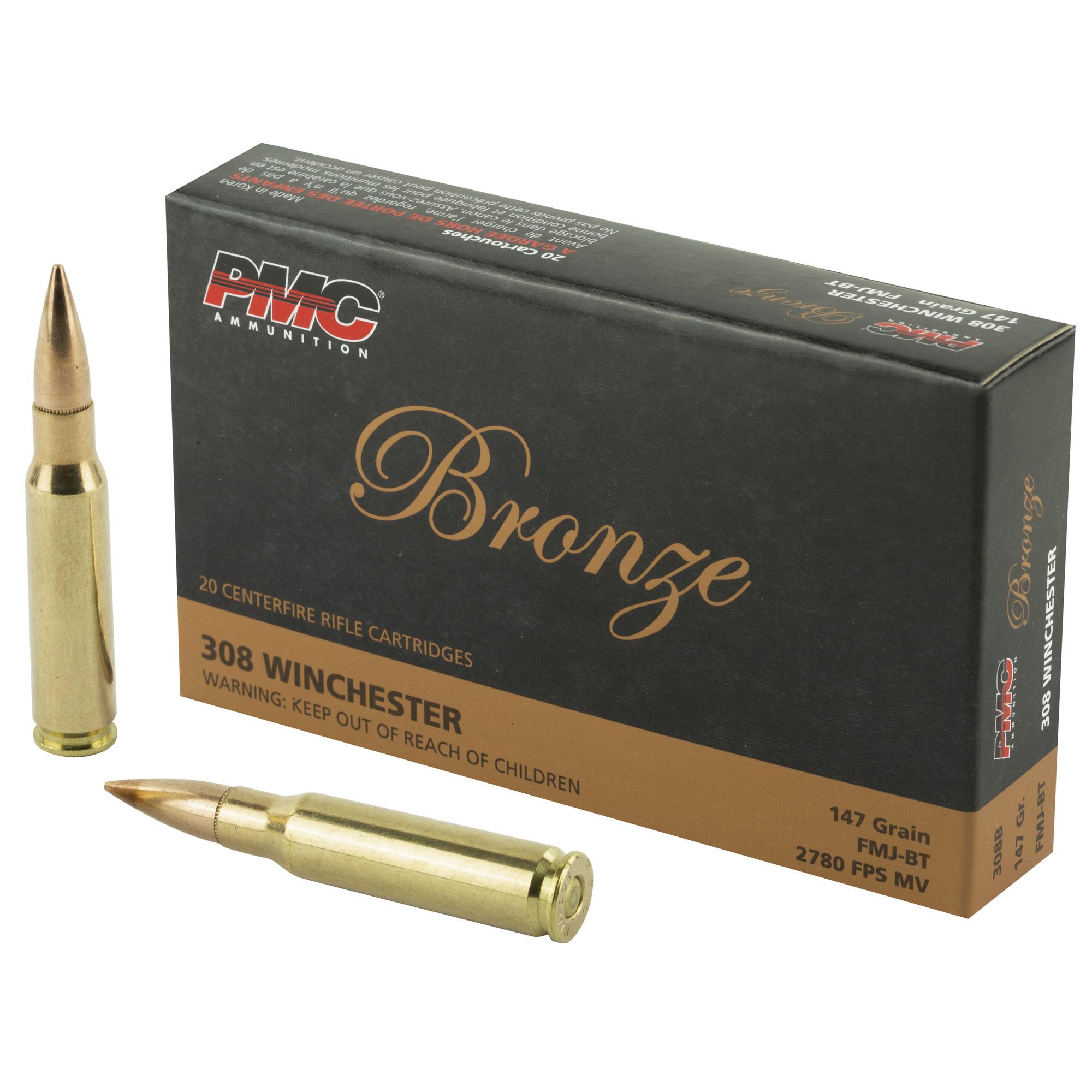 PMC Bronze 308 WIN 20rd Box 147gr FMJ-BT