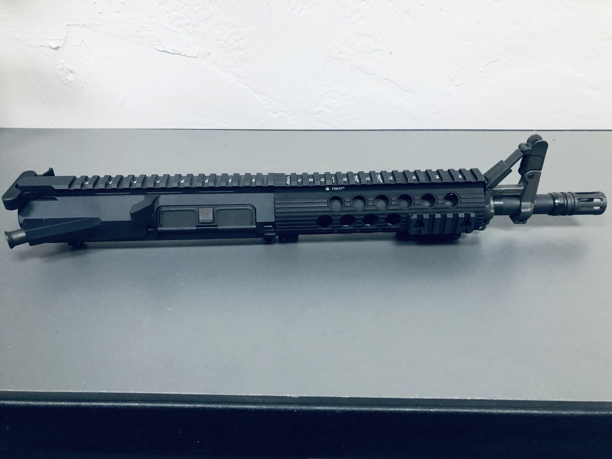 "NC Custom 10.5"" LR308 1:10 416R Duel Ejector BCG EXT Charging Handle Folding A-Frame 8"" Troy Upper"