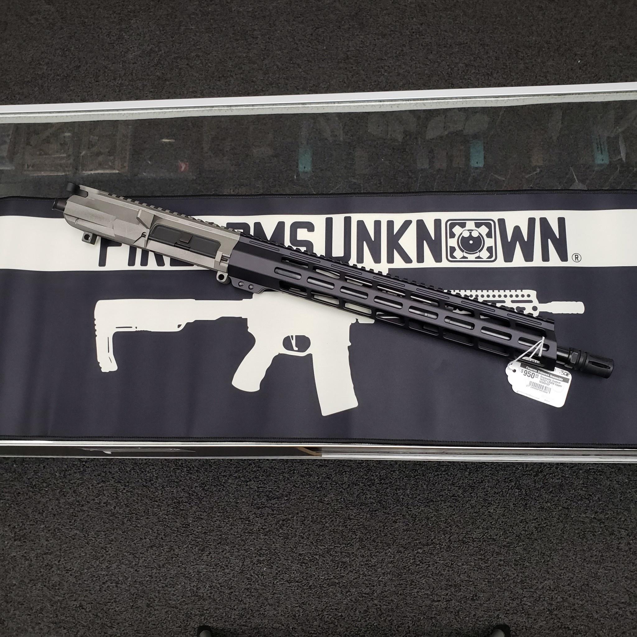 "Oceanside Custom 16"" 308Win 1:10 Rifle Length Blk Krait Mlok Upper w/ A2 Flash Hider 16308137"