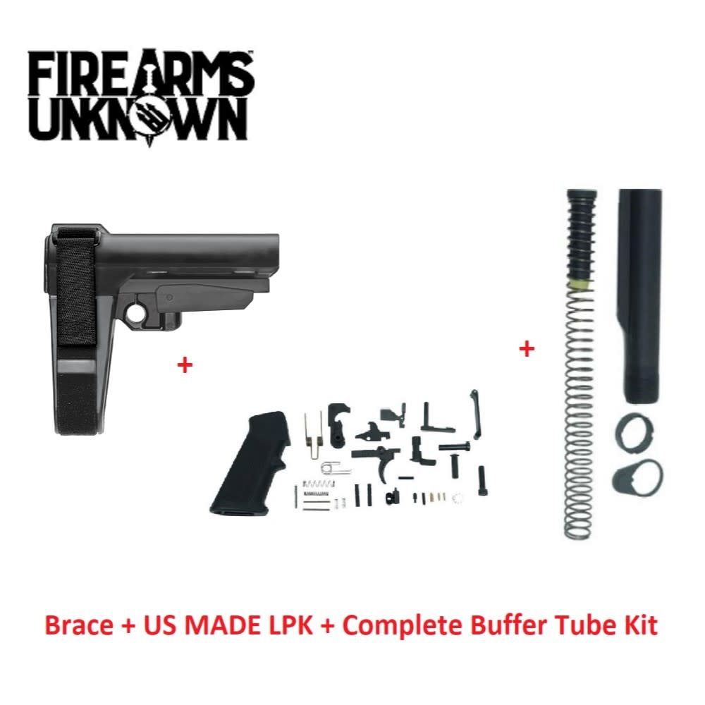 SB Tactical SBA3 + Complete Buffer Tube Assembly + US Made LPK