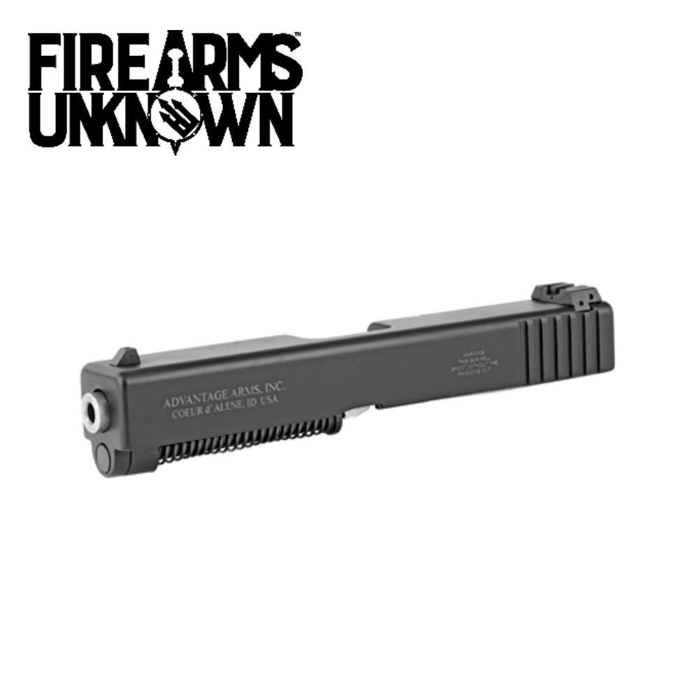 "Advantage Arms, Conversion Kit, 22LR, 4.6"" Barrel, Fits Glock 17/22/31/34/35/37 Gen3, With Range Bag Black Finish 1-10Rd Magazine"