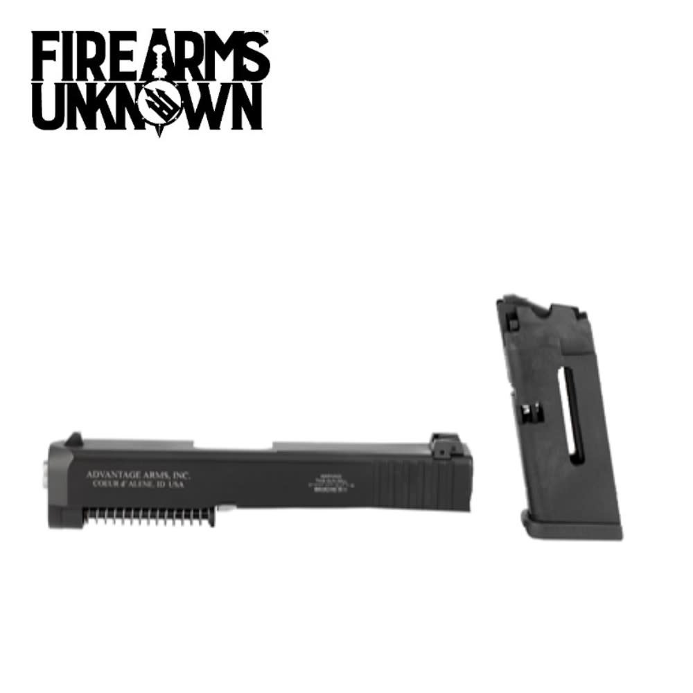 "Advantage Arms, Conversion Kit, 22LR, 3.46"" Barrel, Fits Glock 26/27 Gen3, With Range Bag, Black Finish 1-10Rd Magazine"