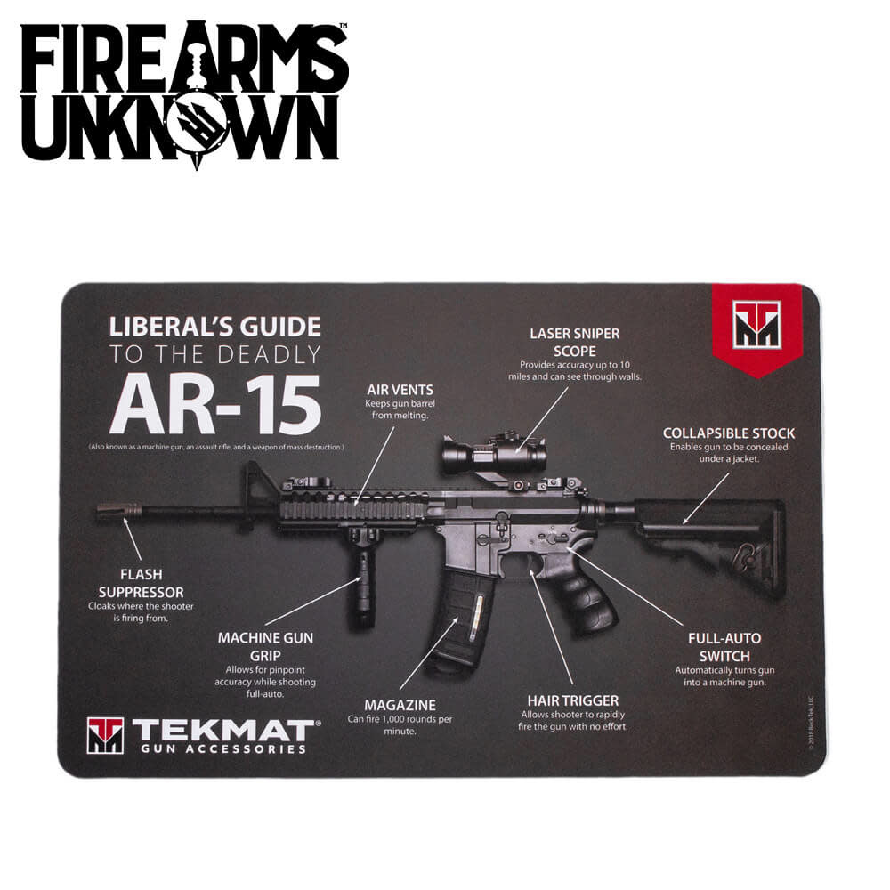 "TekMat AR-15 Rifle Mat Cleaning Mat Liberal's Guide to the AR-15 11"" x 17"""