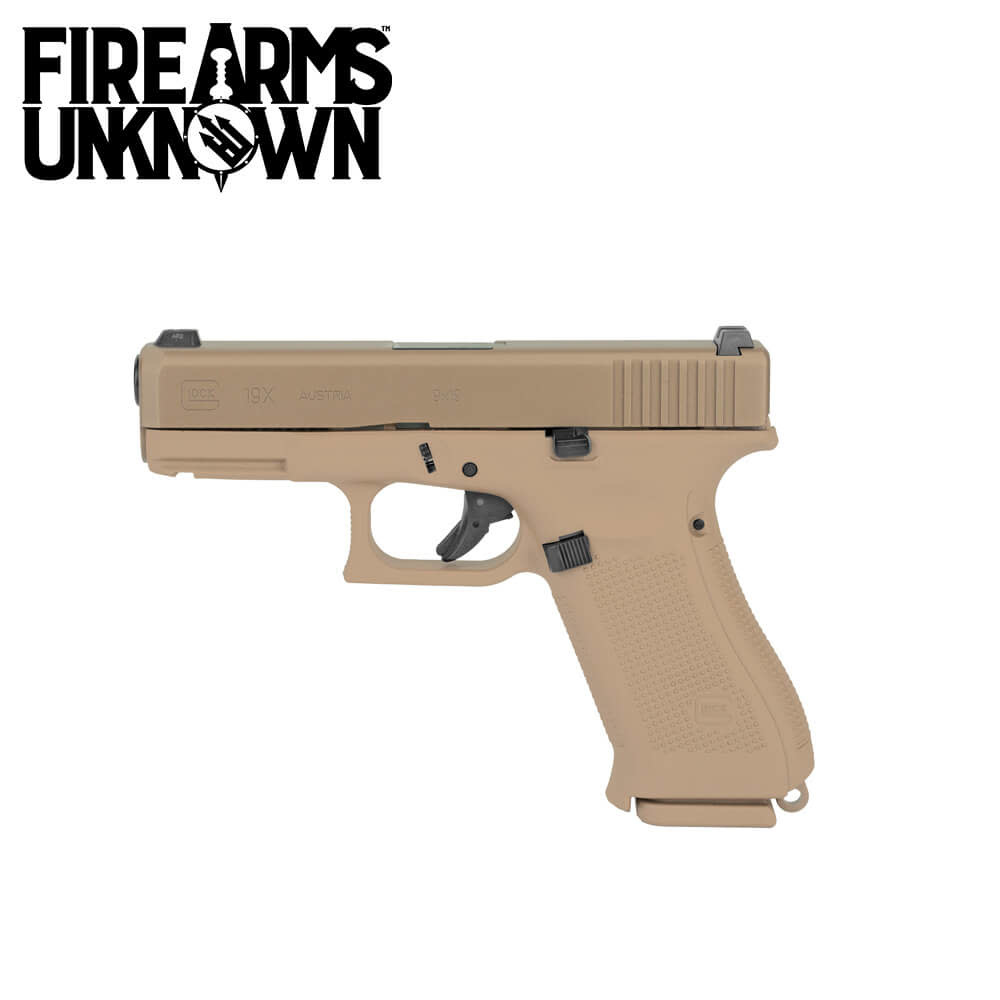 Glock G19X Coyote Pistol 9MM w/ 17 & 19 Rd Mags