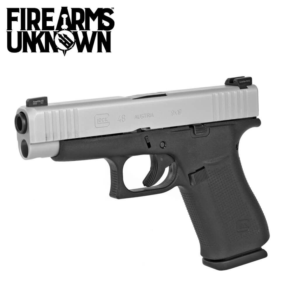 Glock G48 Pistol 9MM SS Slide w/ Ameriglo Night Sights