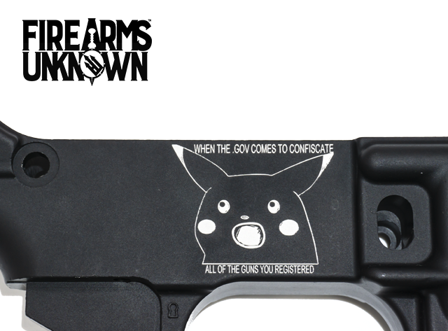Limited Edition ATF MEME Engraved 80% lower