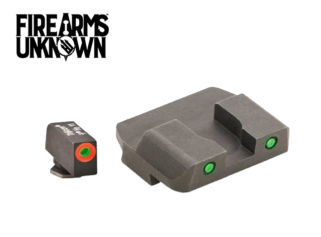 Ameriglo GL-446 Glock Sights Spartan OP Tritium Front Orange