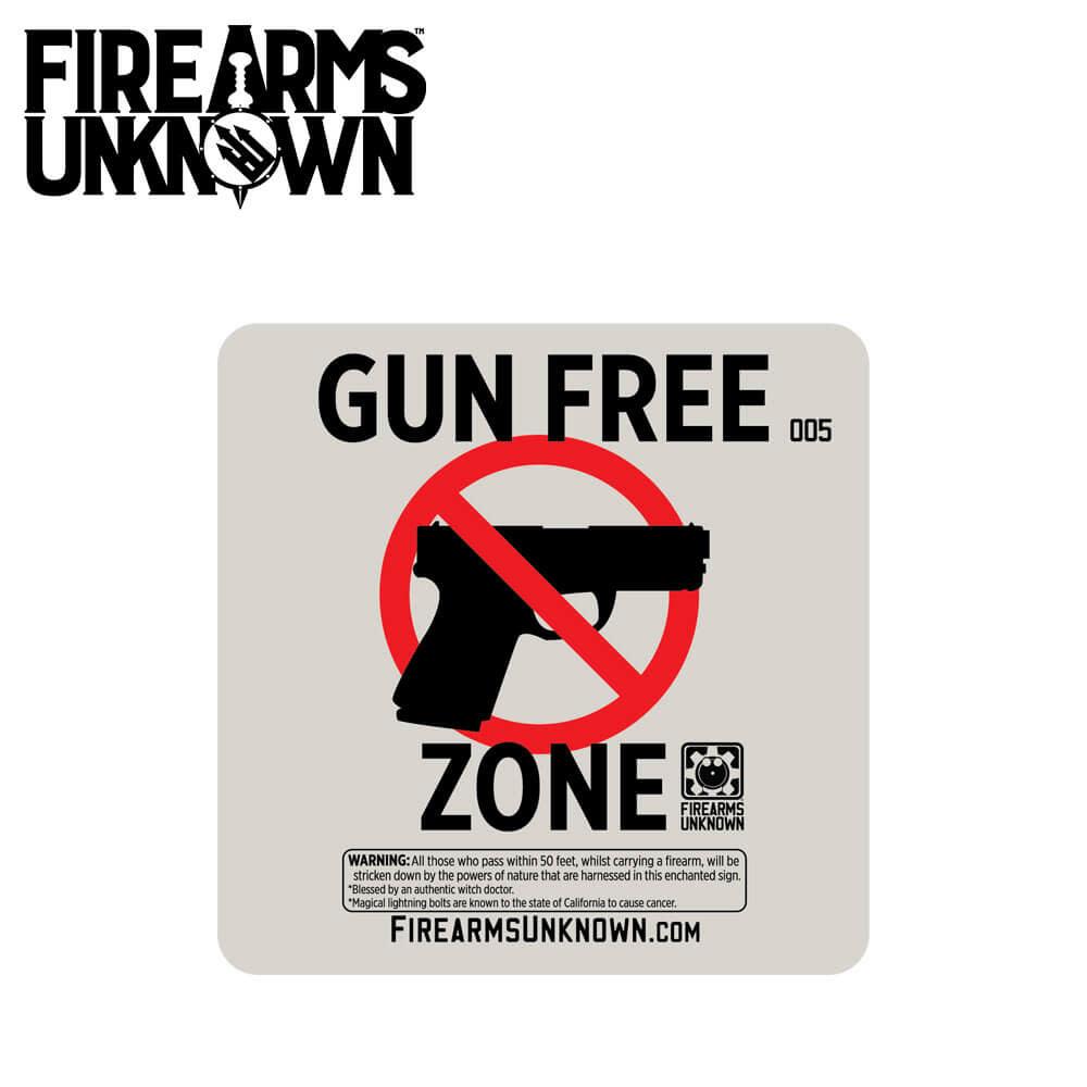 FU Coaster No. 005 - Gun Free Zone