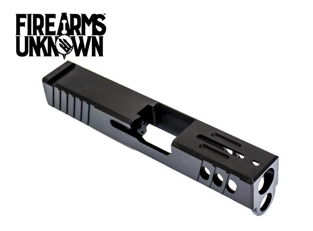 FU Glock Compatible Slide T4 Stripped G26 9mm Black