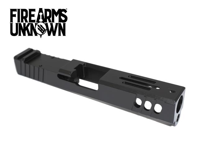 FU Glock Compatible Slide T4 Stripped G19 9mm Black
