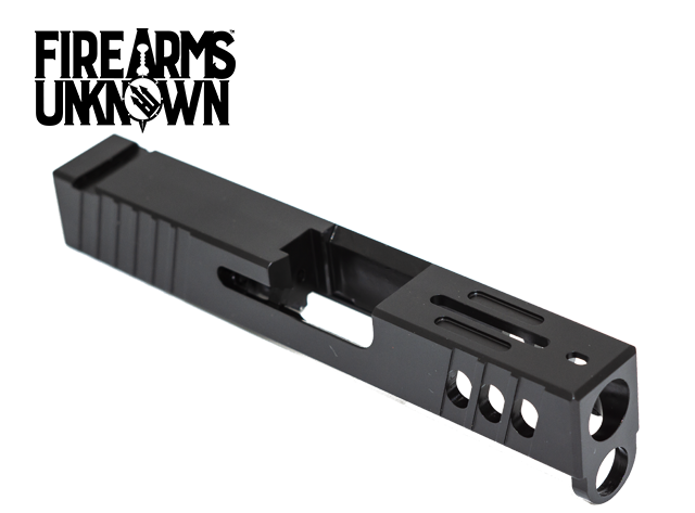 FU Glock Compatible Slide T4 Stripped G43 9mm Black
