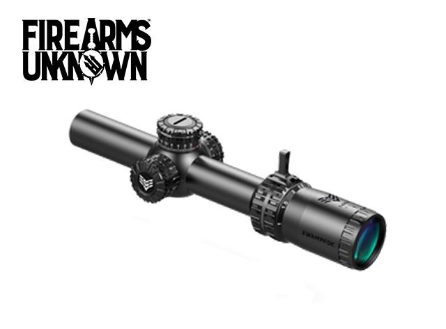 Swamp Fox Optics, Arrowhead, 1-10X24 SFP Red IR MIL 30mm Tube Riflescope