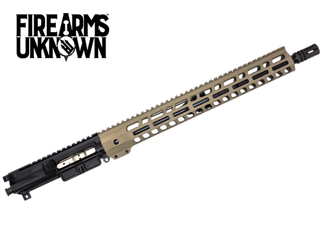 "Complete AR-15 16"" Upper Receiver, FDE 15"" Handguard"