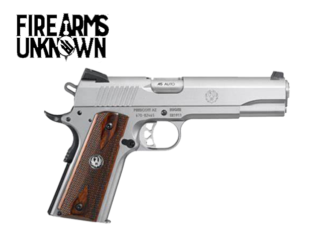 """Ruger , SR1911 , 45ACP , 5"""" Barrel , Low-Glare Stainless , 8 Rds"""