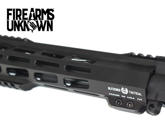 """The Symmetry, Pistol Length Upper, 8"""" 5.56, Black Nitride M16 BCG, Blitzkrieg Gestalt M-Lok 9"""" Rail"""