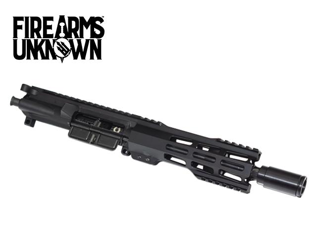 """The Order, Pistol Length Upper, 7.5"""" 5.56, Black Nitride M16 BCG, Blitzkrieg Gestalt M-Lok 9"""" Rail"""