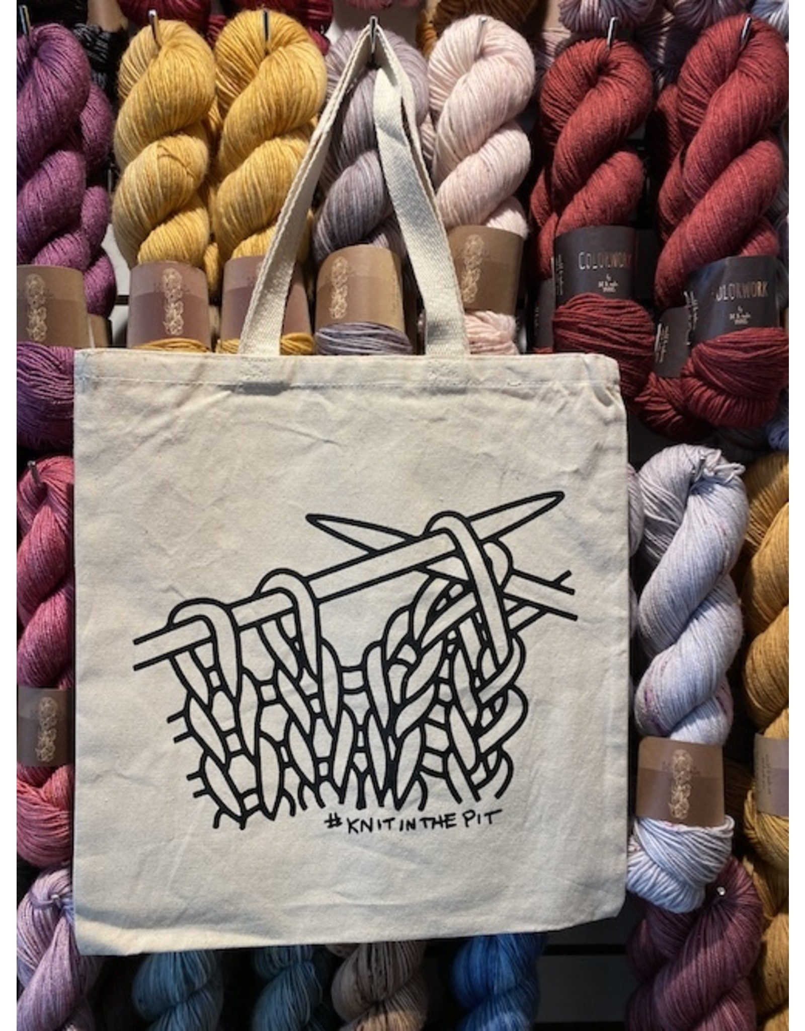 knit in the pit tote