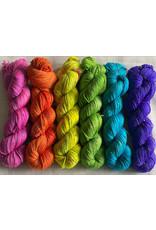 Kim Dyes Yarns Rainbow Tweed Fingering