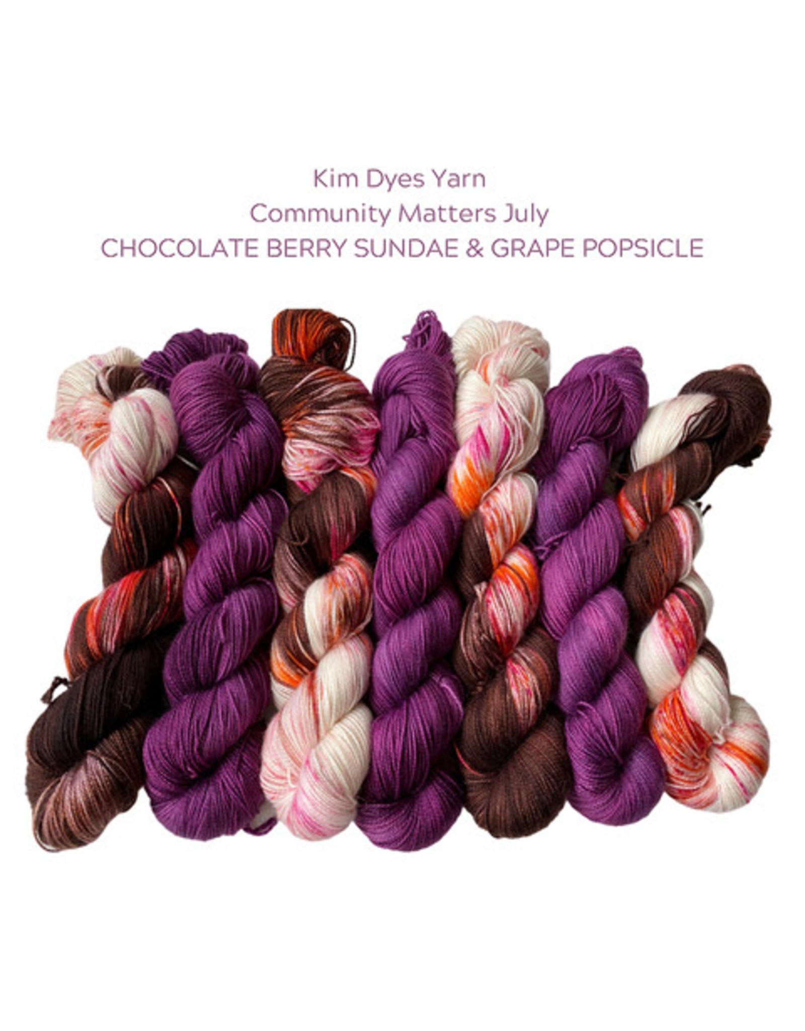 Kim Dyes Yarns Sourdough Sock