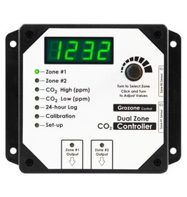 GROZONE Grozone Control CO2D 0-5000 PPM Dual Zone CO2 Controller