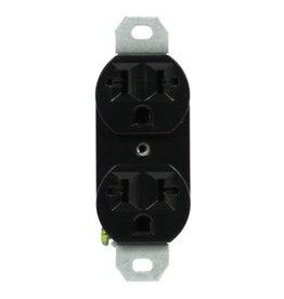 LGT COMP 120/240 20A-Universal Duplex Outlet Black