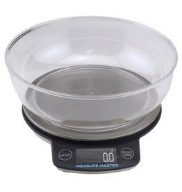 MEAMAS Measure Master Digital Scale w/ 1.88 L Bowl (3kg) - 3000g Capacity x 0.1g Accuracy (40/Cs)