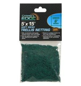 GROWEDG Grower's Edge Soft Mesh Trellis Netting w/ 6 in Squares - Green
