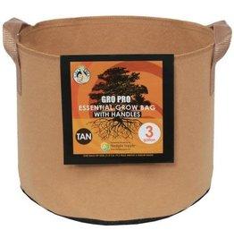 GROPRO Gro Pro Essential Round Fabric Pot w/ Handles - Tan