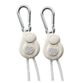 Sun Grip Push Button Light Hanger 1/8 in White -1/Pair
