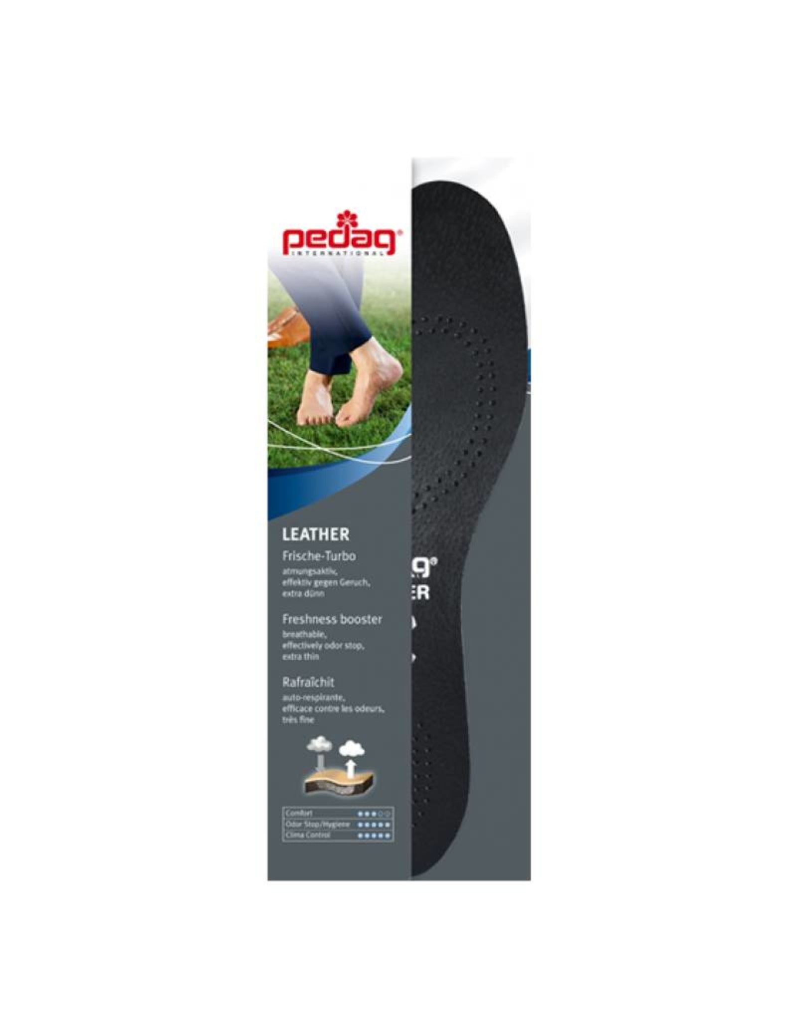 LEATHER- Black leather insoles with carbon filter