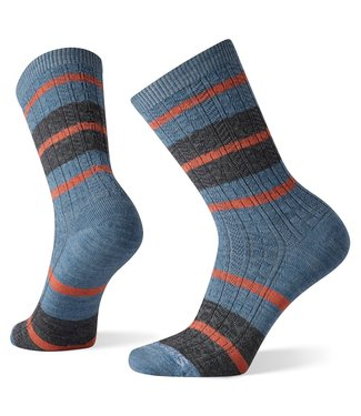 SMARTWOOL WOMEN'S EVERYDAY STRIPED CABLE CREW SOCKS