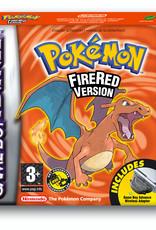 GameBoy Advance Pokemon Fire Red (CIB W/Wireless Adapter)