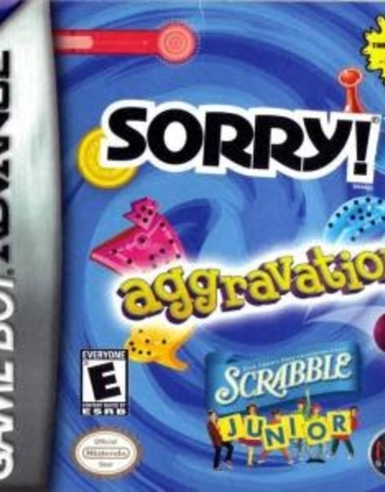 GameBoy Advance Aggravation/ Sorry/ Scrabble Jr (Cart Only)