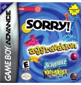GameBoy Advance Aggravation/ Sorry/ Scrabble Jr (Cart Only)
