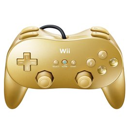 Wii Gold Wii Classic Controller Pro
