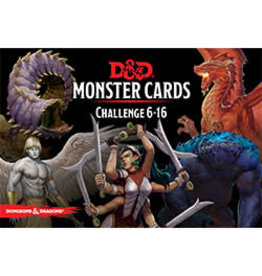 Dungeons & Dragons D&D Monster Cards Challenge 6-16