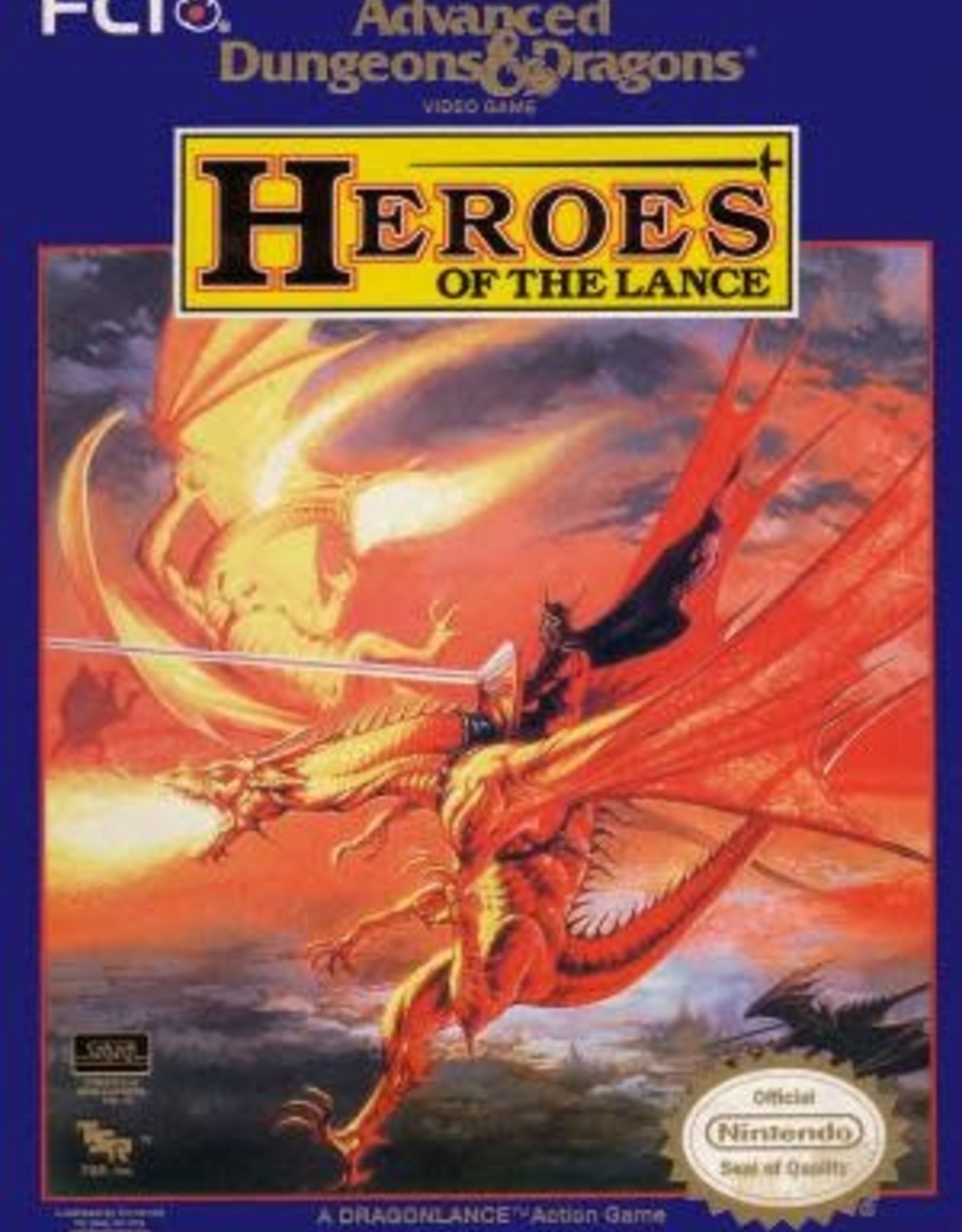 NES Advanced Dungeons & Dragons Heroes of the Lance (Cart Only)