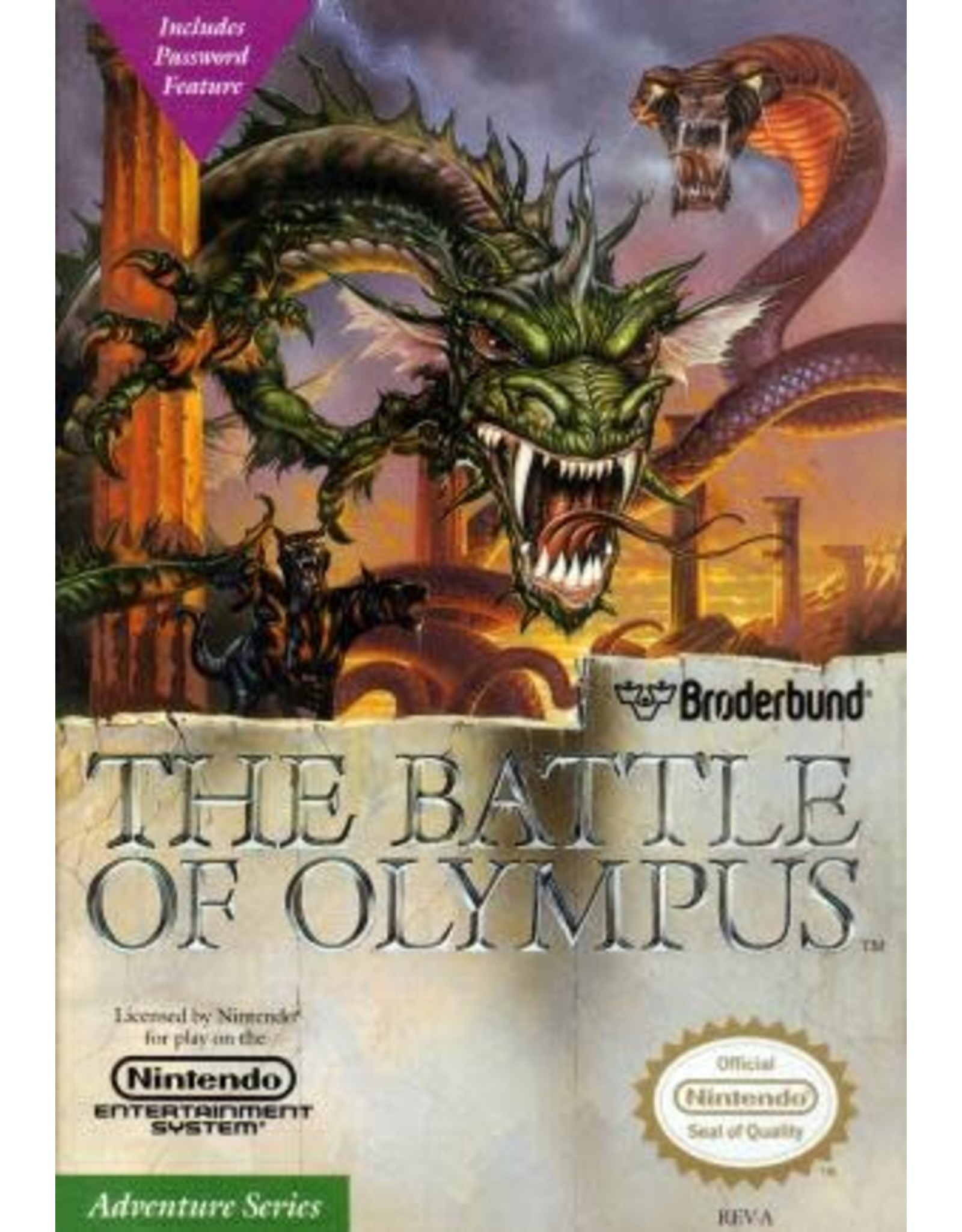 NES Battle of Olympus (Cart Only)
