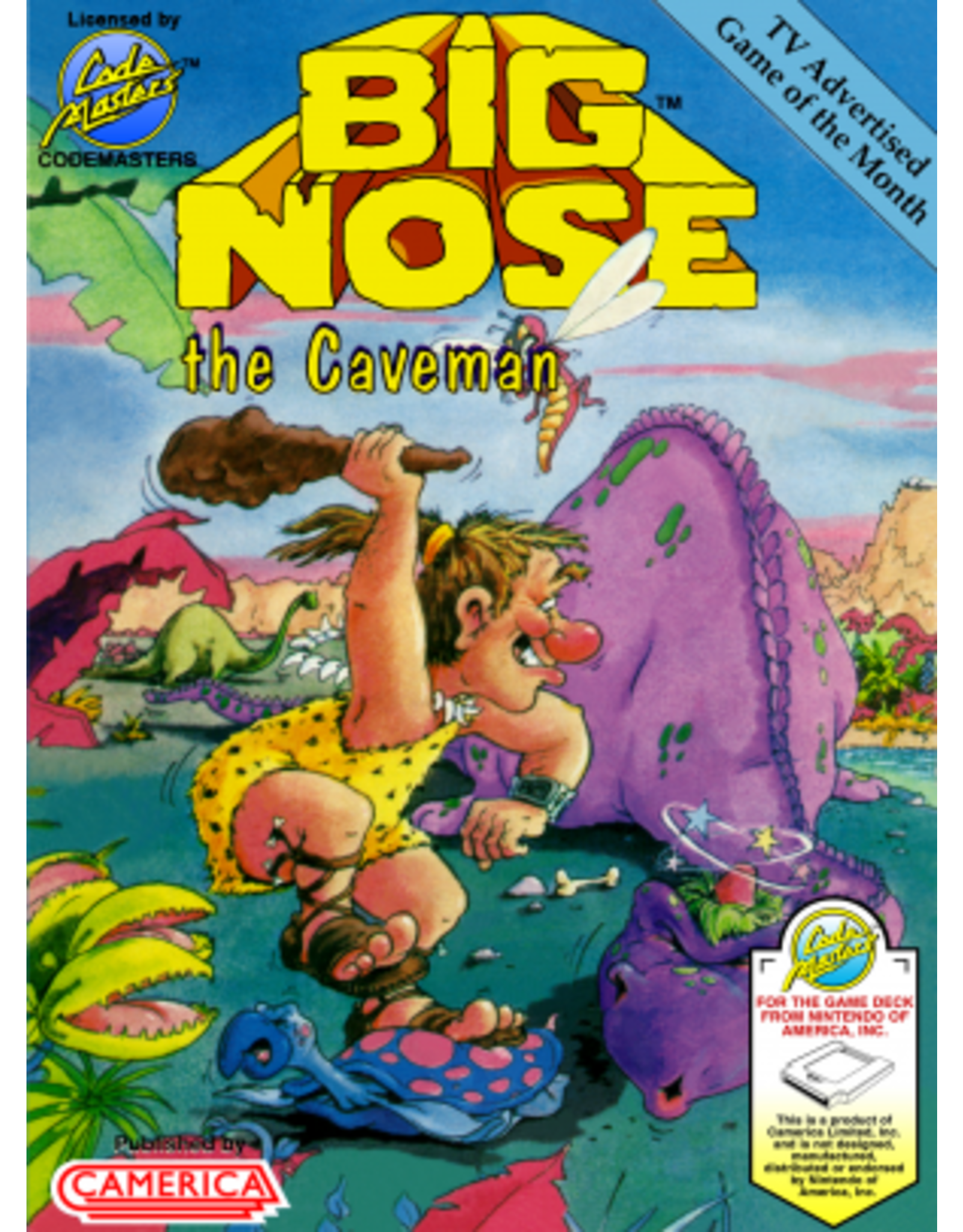 NES Big Nose the Caveman (Cart Only)