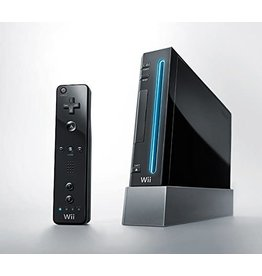 Wii Black Nintendo Wii Console (Backwards Compatible)