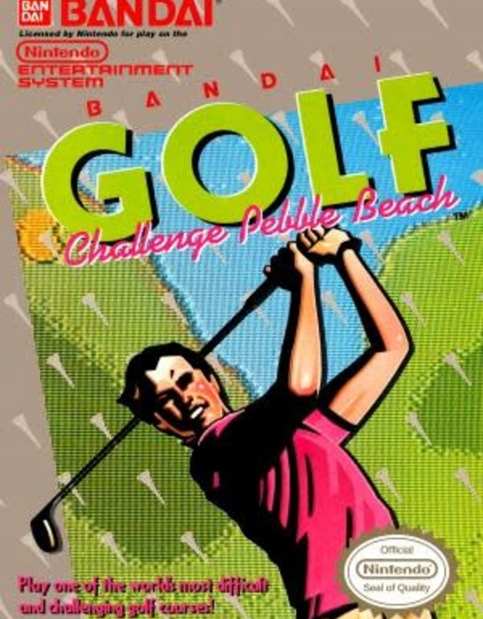 NES Bandai Golf Challenge Pebble Beach (Cart Only)