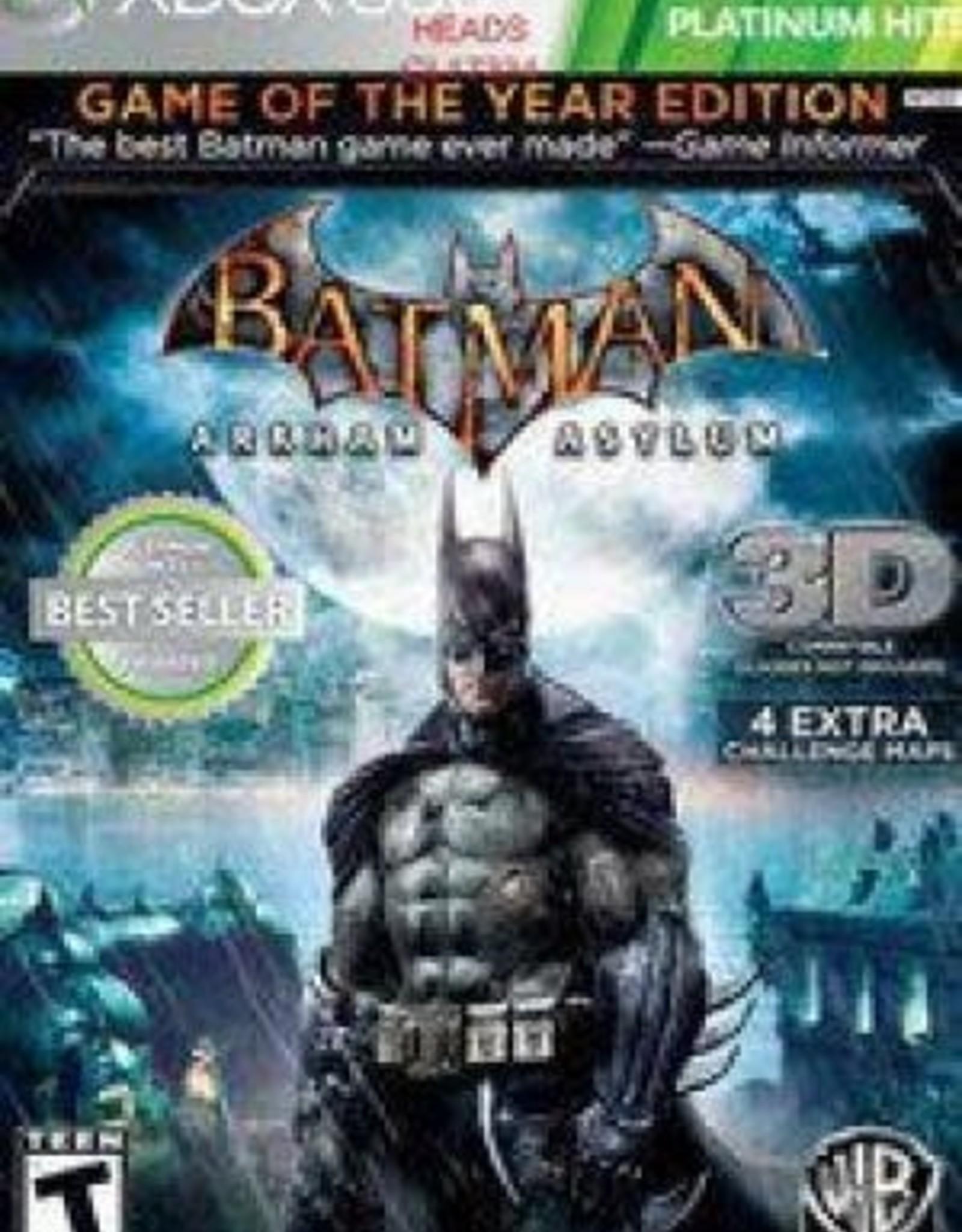 Xbox 360 Batman: Arkham Asylum Game of the Year Edition