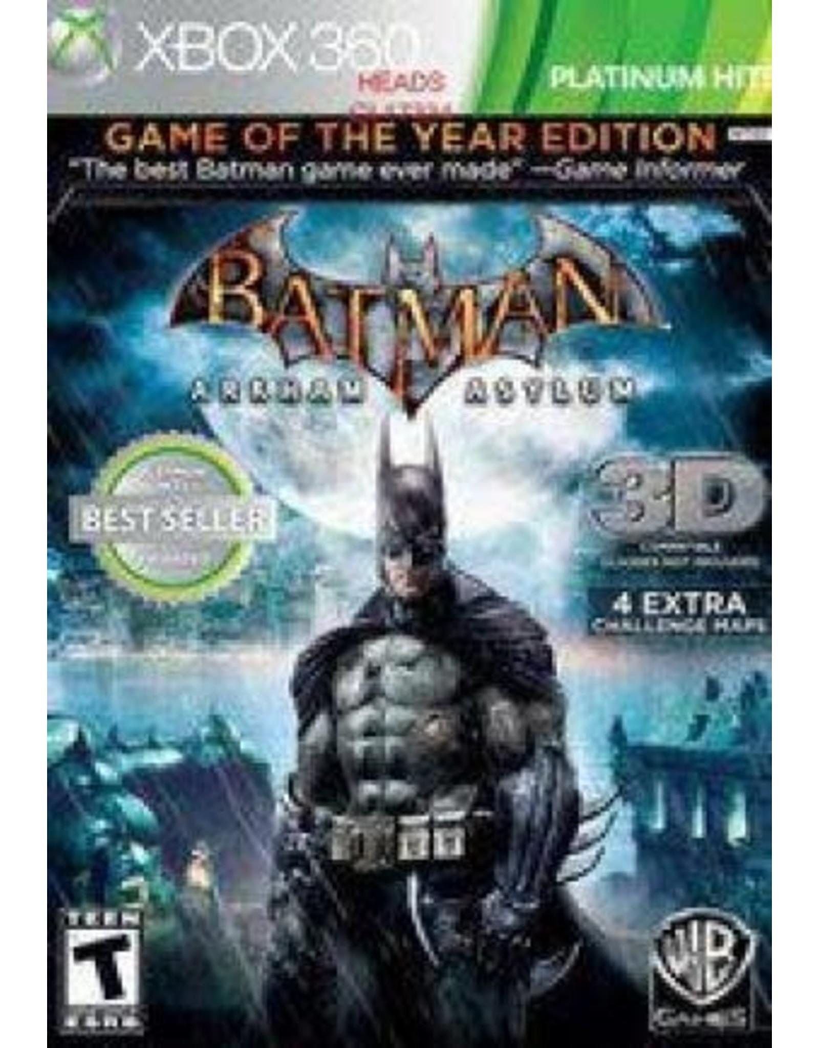 Xbox 360 Batman: Arkham Asylum Game of the Year Edition (Platinum Hits, CiB)