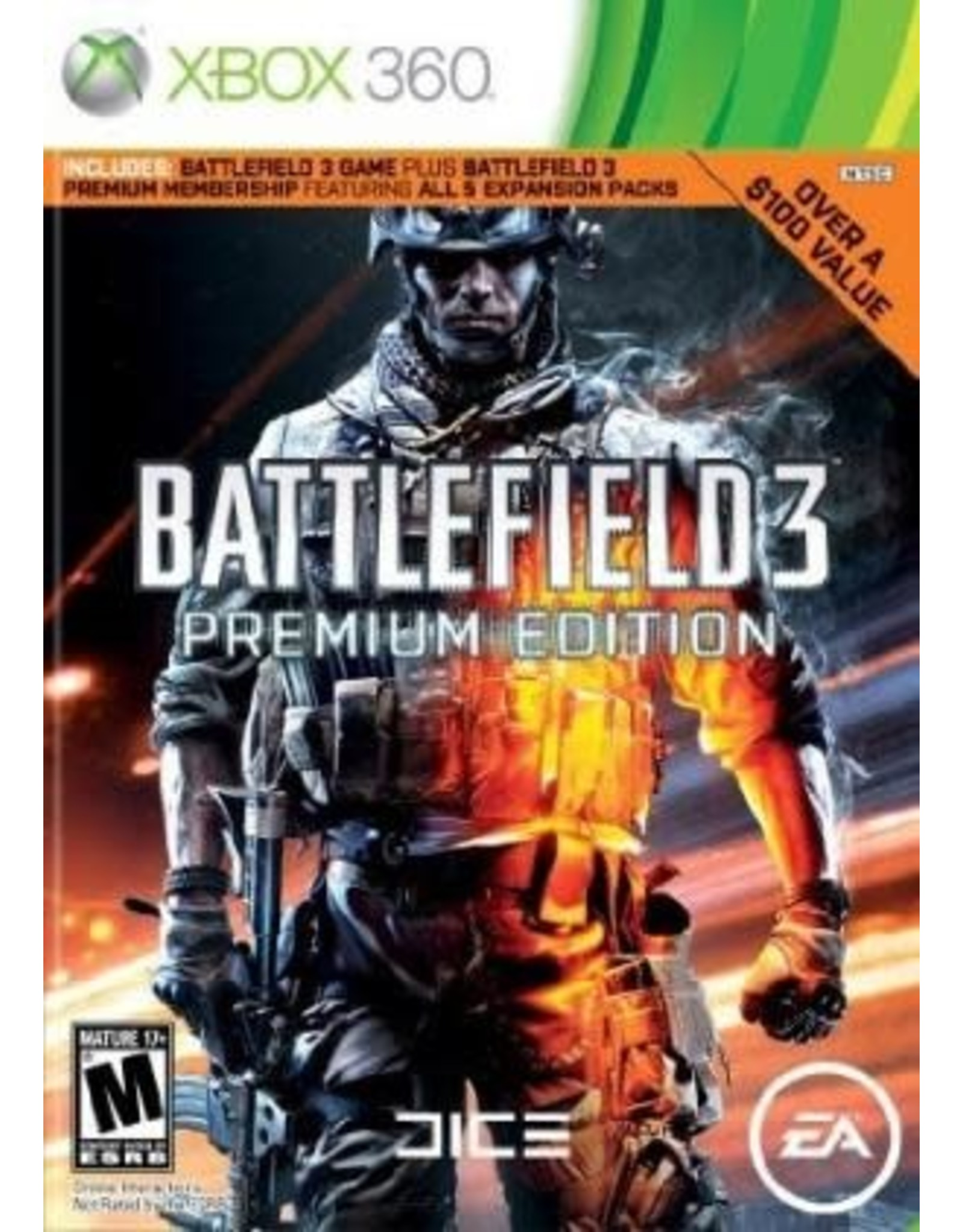 Xbox 360 Battlefield 3 Premium Edition No DLC (CIB)