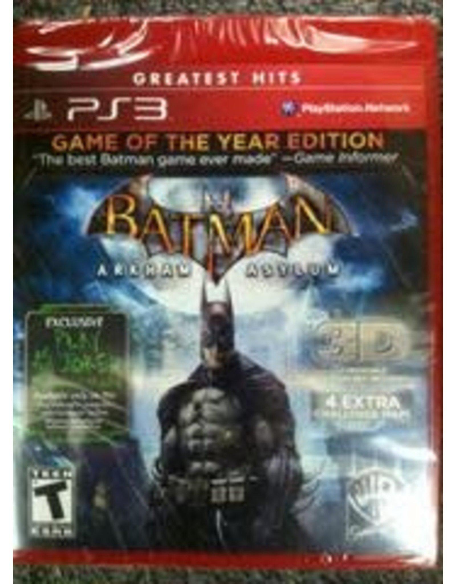 Playstation 3 Batman: Arkham Asylum Game of the Year Edition (CiB)