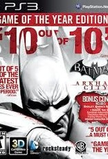 Playstation 3 Batman: Arkham City Game Of The Year