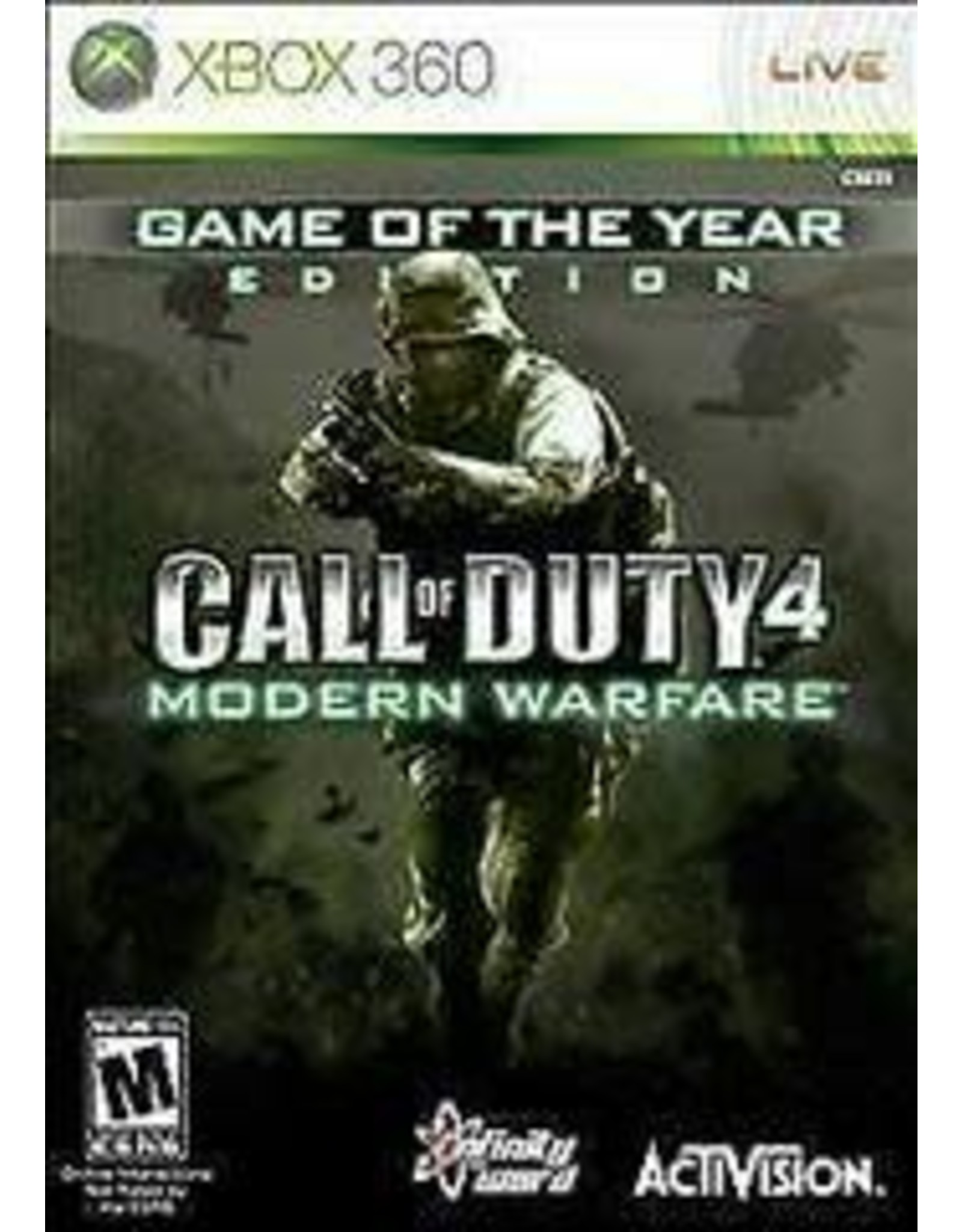 Xbox 360 Call of Duty 4 Modern Warfare Game of the Year Edition (CiB)