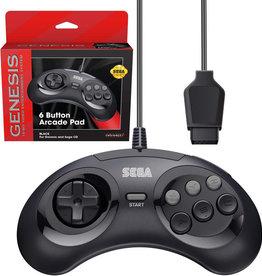Sega Genesis Genesis 6 Button Controller Black (RetroBit)