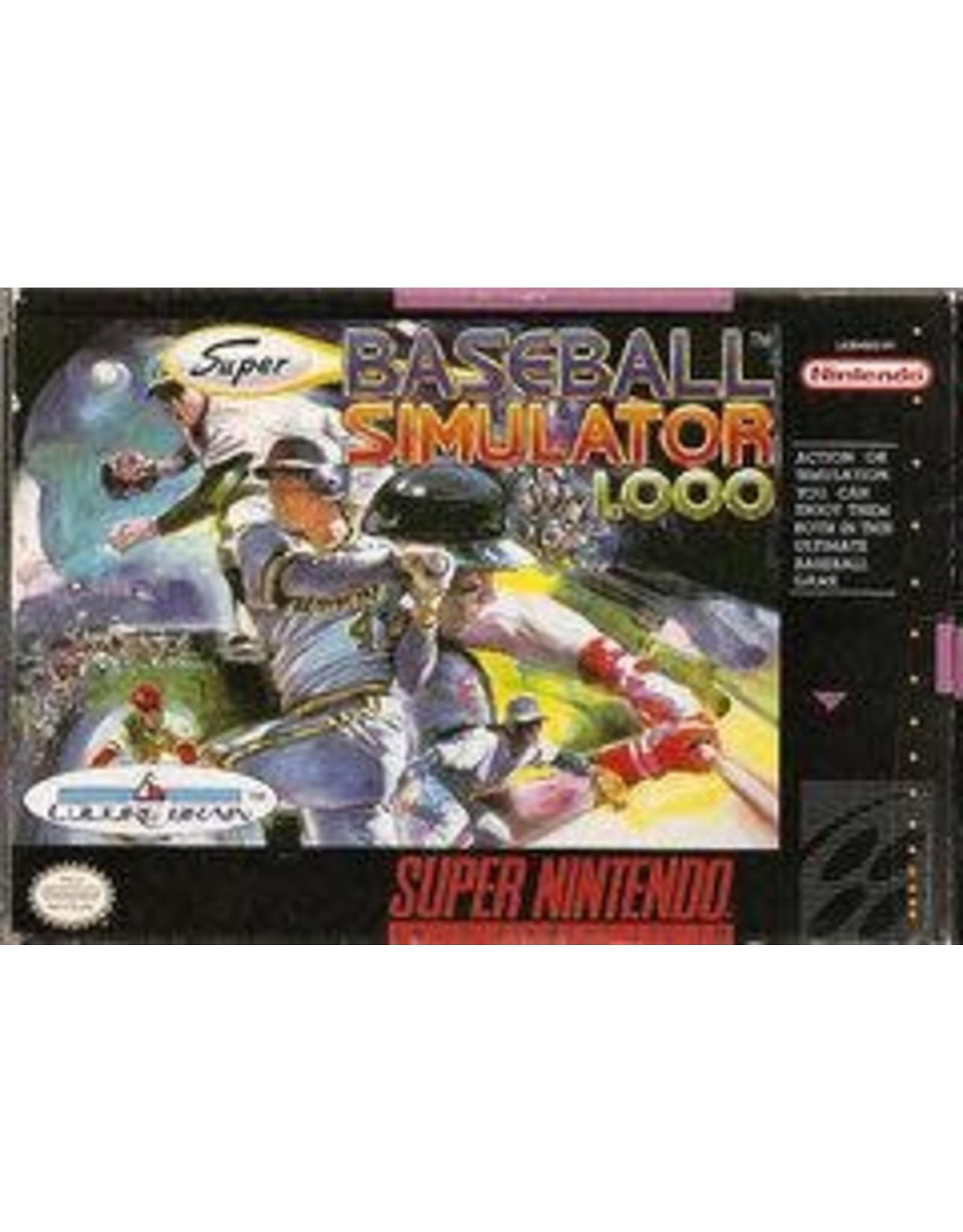 Super Nintendo Baseball Simulator 1.000 (Cart Only)